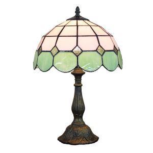 (EU Lager)D30cm Tiffany Tischleuchte Grün Rand 1-flammig im Wohnzimmer