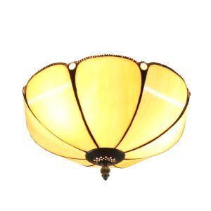 (EU Lager)Tiffany Deckenleuchte D30cm Floral Design 2-flammig im Wohnzimmer