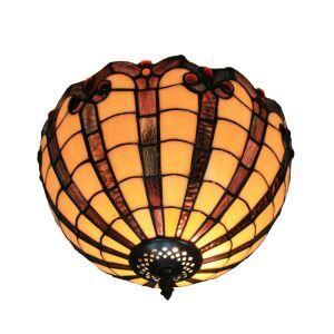 (EU Lager)Klassische Deckenleuchte Tiffany Stil 2-flammig im Wohnzimmer