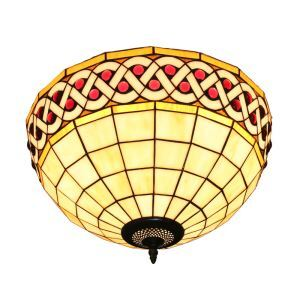 (EU Lager)Attraktive Deckenleuchte Tiffany Stil D30cm 2-flammig im Esszimmer