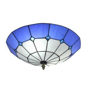 (EU Lager)2-flammige Deckenleuchte Tiffany Stil D30cm im Esszimmer