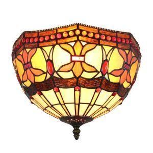 (EU Lager)Stimmungsvolle Deckenleuchte Tiffany Stil D30cm 2-flammig im Schlafzimmer