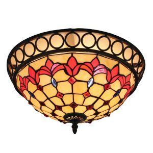(EU Lager)Entzückende Deckenleuchte Tiffany Stil D30cm 2-flammig im Esszimmer