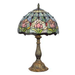 (EU Lager)D30cm Tiffany Tischleuchte Tulpen Design 1-flammig im Wohnzimmer