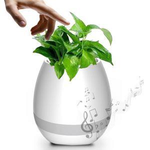 Versandkostenfrei Musik Blumentopf Bluetooth Lautsprecher Drahtlos Smart Touch mit Nachtlicht Klavier auf einem echten Pflanzen spielen (Pflanzen nicht inklusive)