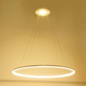 (EU Lager)Versandkostenfrei Led Pendelleuchte Warmweiß Modern Ring Design aus Polyester D60cm