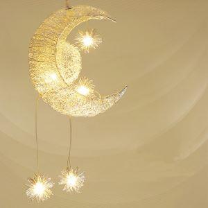 (EU Lager)Versandkostenfrei LED Pendelleuchte Mond Stern Design 5 flammig