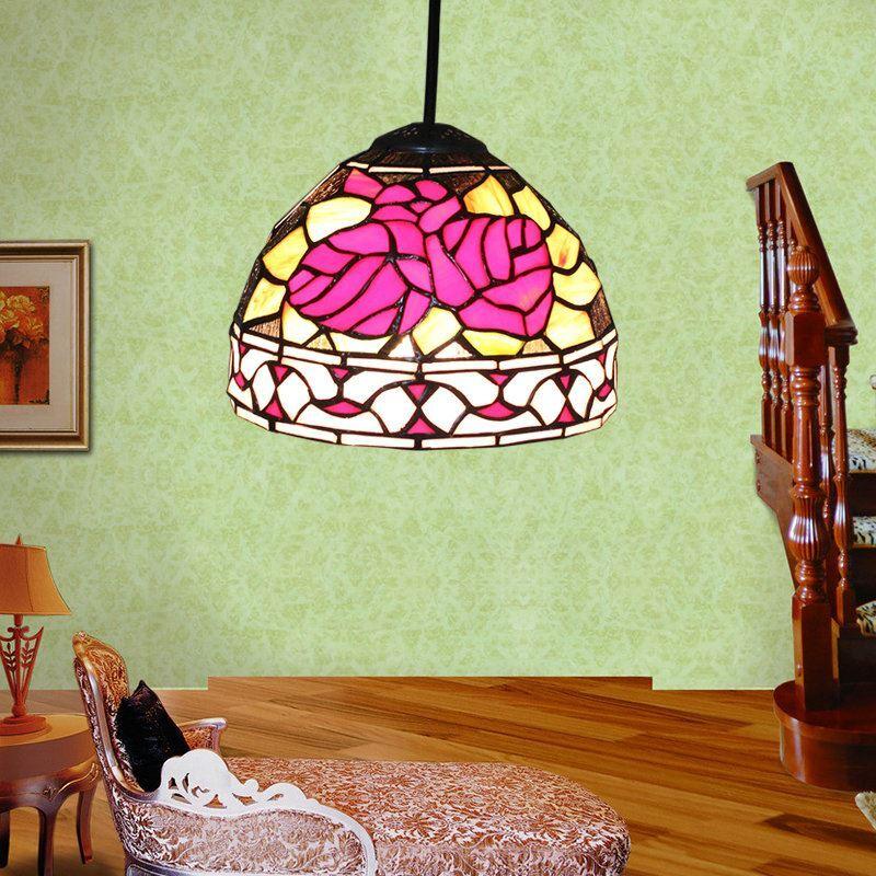 d20cm tiffany h ngeleuchte rose design 1 flammig im. Black Bedroom Furniture Sets. Home Design Ideas