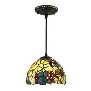 Tiffany Pendelleuchte D20cm Weintraube Design 1-flammig im Esszimmer
