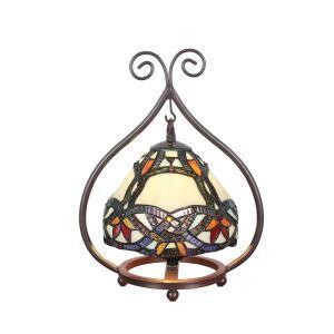 D20cm Zauberhafte Tischleuchte Tiffany Stil 1-flammig im Esszimmer