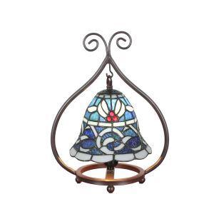 D20cm Stimmungsvolle Tischleuchte Tiffany Stil 1-flammig im Schlafzimmer