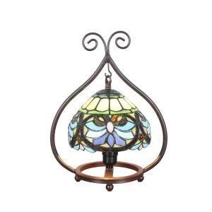 D20cm Anmutige Tischleuchte Tiffany Stil 1-flammig im Wohnzimmer