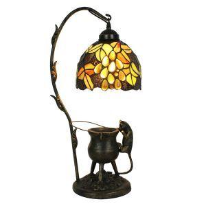 D20cm Zauberhafte Tischleuchte Tiffany Stil Weintraube Design 1-flammig