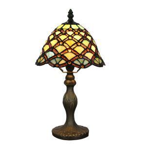 D20cm Tiffany Tischleuchte Geometrisch Design 1-flammig im Esszimmer