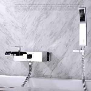 Moderne Duscharmatur Wandmontage Chrom Einhand mit Handbrause