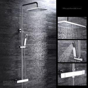 Moderne Duscharmatur Chrom Regenfall für Wandmontage