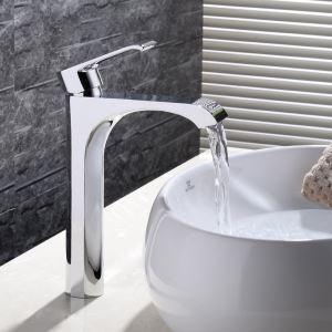Moderne Waschtischarmatur Bad Einhand Chrom