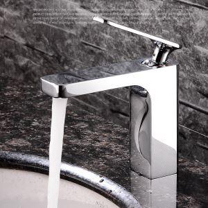 Einhebel Waschtischarmatur Modern Chrom Kalt- und Warmwasser