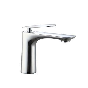 Moderne Waschbeckenarmatur Einhand Chrom Kalt- und Warmwasser