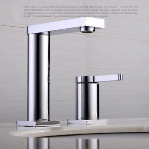 Einhand Waschbeckenarmatur Modern Chrom im Badezimmer