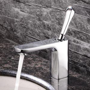 Einhebel Waschbeckenarmatur Modern Chrom im Badezimmer