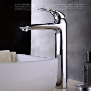 Verchromte Waschtischarmatur Bad Modern Einhandmischer