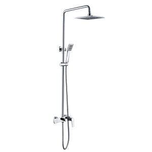 Modern Duschsystem Chrom Regenfall Wandmontage 3-Loch-Einhand
