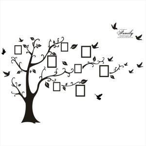 Bilderrahmen Baum Schwarz Wandtattoo aus PVC