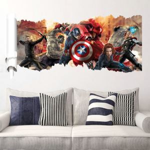 3D Wandtattoo Marvel's The Avengers Figuren