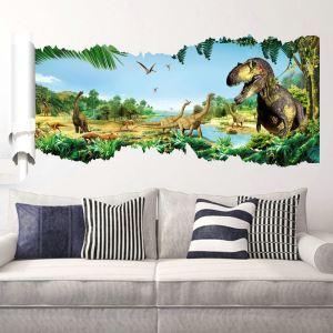 3D Wandtattoo Jurassic Park Dinosaurier im Wald