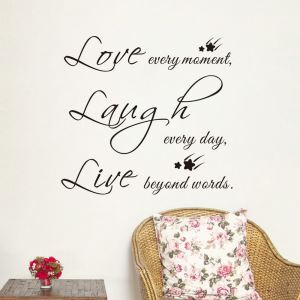 PVC Wandsticker Love every moment...