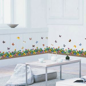 PVC Wandsticker Cartoon Schmetterling im Garten