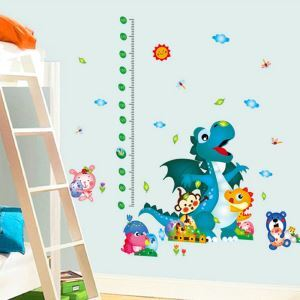 PVC Wandtattoo Messlatte Cartoon Dinosaurier