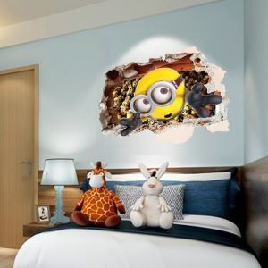 3D Wandtattoo Cartoon Minions PVC Fototapete