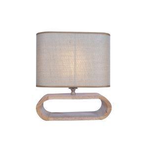 Tischleuchte Minimalistisch aus Stoff Holz 1-flammig im Schlafzimmer