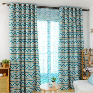 Moderner Vorhang Geometrisch Design aus Polyester
