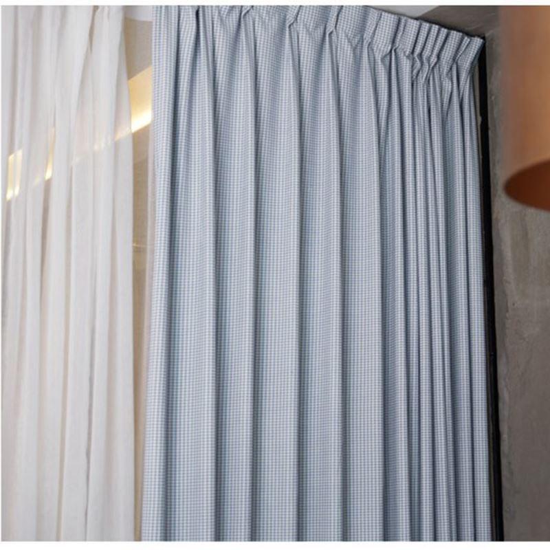 Landhaus Vorhang Pepita Muster aus Polyester