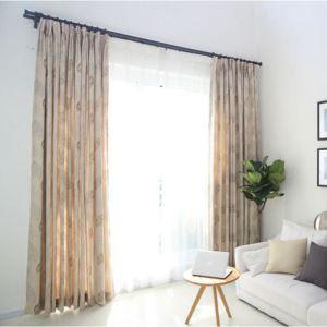 Moderner Vorhang Blätter Muster aus Chenille
