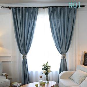 Moderner Vorhang Uni aus Polyester im Wohnzimmer