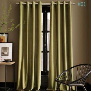 Moderner Vorhang Unifarbe aus Leinen im Esszimmer