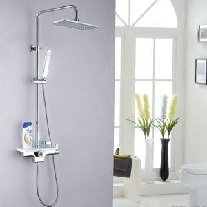 Duschsystem Modern Chrom Regendusche mit Einhandmischer