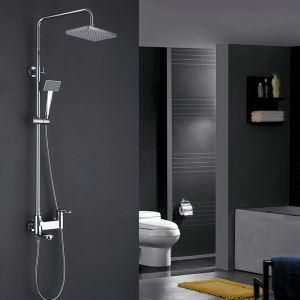 Duschsystem Modern Chrom Wandmontage mit Einhandmischer