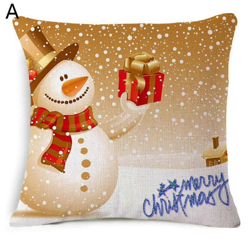 Dekokissenbezug Weihnachten Schneemann Weihnachtsgeschenk Design