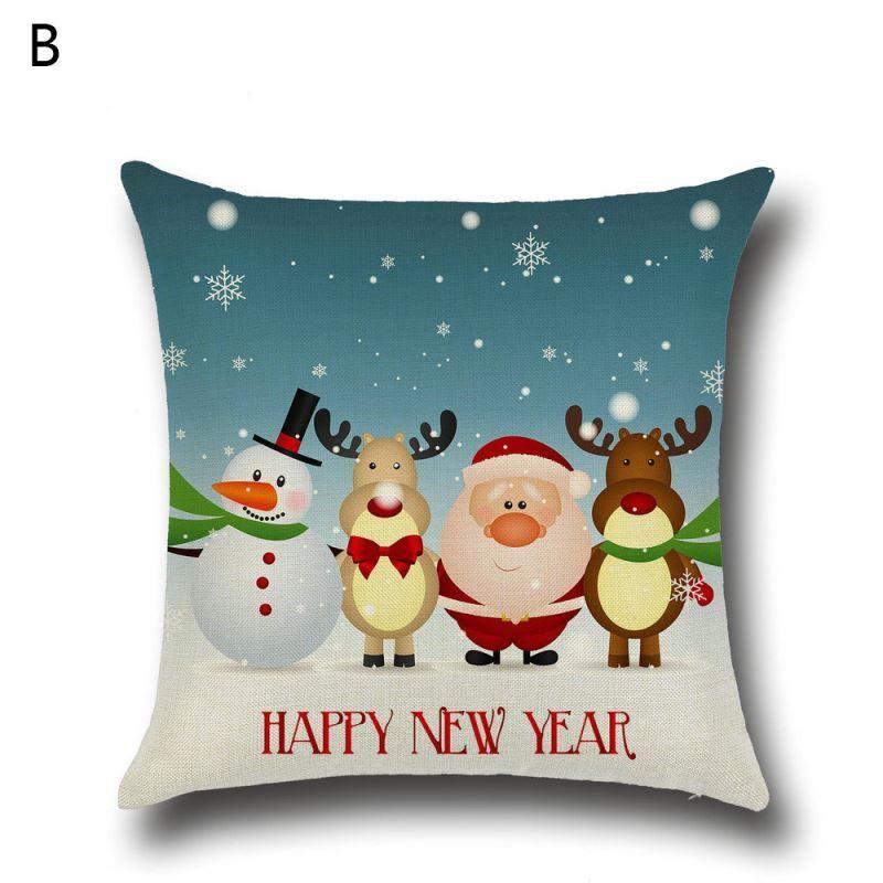 Weihnachten dekokissenbezug weihnachtsmann for Weihnachtshirsch deko