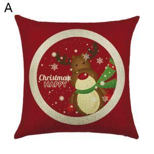 (EU Lager)Dekokissenbezug Weihnachten Weinachtsgeschenk Weihnachtsbaum Design