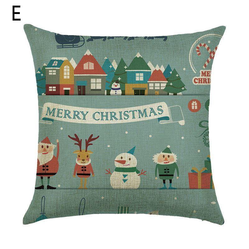 Dekokissenbezug weihnachten weihnachtsmann for Weihnachtshirsch deko