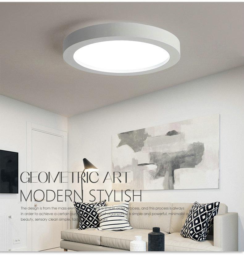 led deckenleuchte modern rund im wohnzimmer. Black Bedroom Furniture Sets. Home Design Ideas