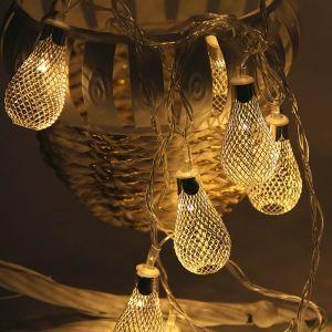 Led Lichterkette Metall Tropfen Design für Party