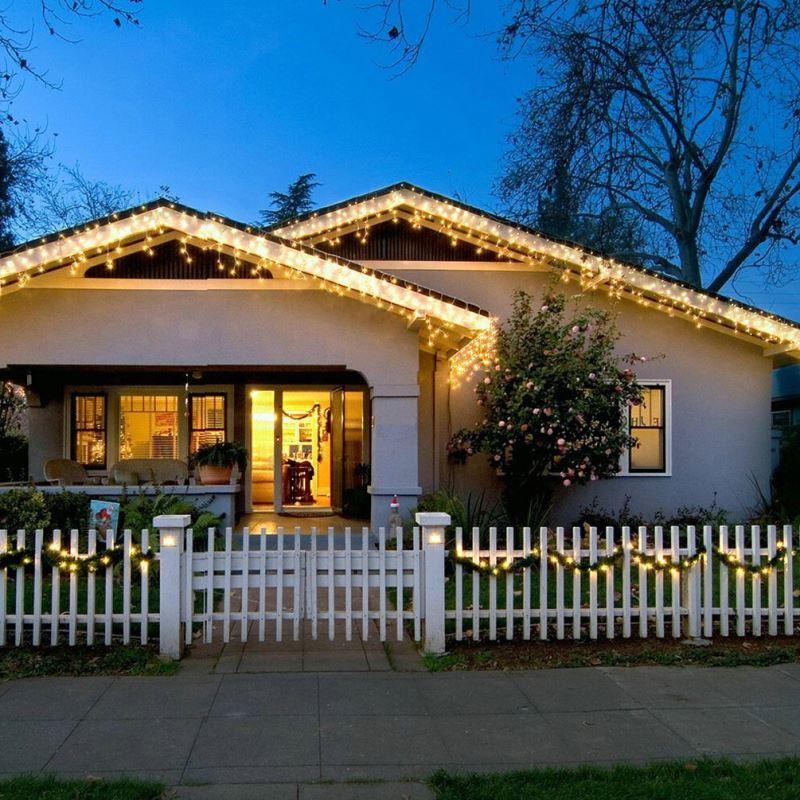Led lichterkette solar au en zur weihnachtsdekoration - Weihnachtsdekoration aussen ...
