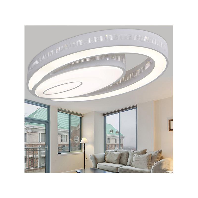 eu lager versandkostenfrei led deckenleuchte kaltwei modern acryl oval im wohnzimmer. Black Bedroom Furniture Sets. Home Design Ideas